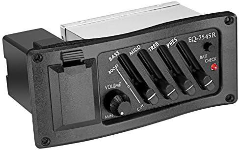 Neewer® 4 de banda de guitarra acústica preamplificador Amplificador EQ 7545R Amplificador para guitarra acústica con Pickup
