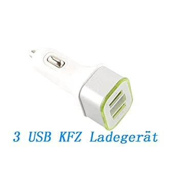 caolator coche cargador 3 USB Car Charge unidad de Cargador ...