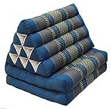 Tungyashop@thai Traditional Cushion Kapok Mattress (Sky Blue, 2 Fold)