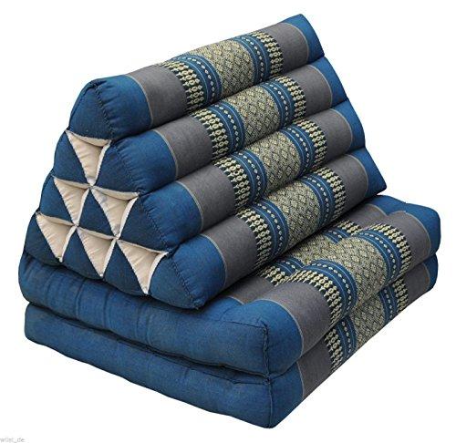 Tungyashop@thai Traditional Cushion Kapok Mattress (Sky Blue, 2 Fold) by NOINOI