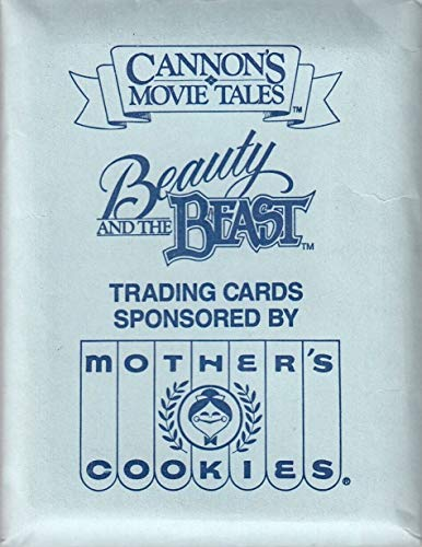 (CANNON'S MOVIE TALES BEAUTY AND THE BEAST 1987 MOTHER'S COOKIES FACTORY BASE CARD SET OF 16 DISNEY)