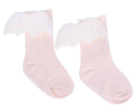 NACOLA - Calcetines de alas de ángel para niños de 0 a 4 años, 3