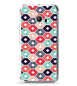 Fuson Abstract Hexagonal Design Designer Back Case Cover for HTC 10 :: HTC One M10 (Abstact Art Paint Painting Illustrations)