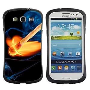 Hybrid Anti-Shock Bumper Case for Samsung Galaxy S3 / Cool Fire & Match