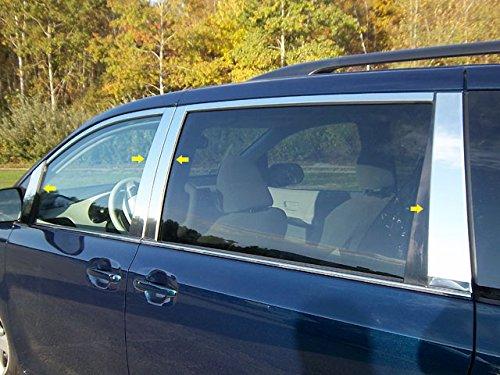 2020 Toyota Sienna Mirror - QAA fits 2011-2020 Toyota Sienna (8 Piece Stainless Pillar Post Trim, Includes Front Mirror Piece) PP11152