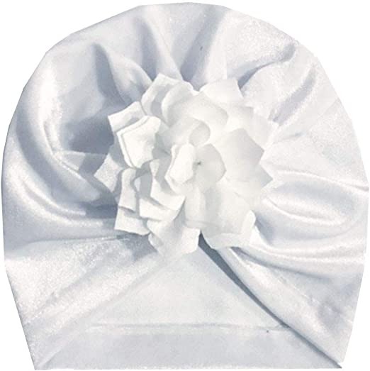 Infant Baby Girls Floral Beanie Cap Vinjeely Baby Girls Bownknot Flower Turban Headgear Hat Winter