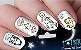 #9: Cute Kawaii Summer Set Mixture assortment #2 Nail Art Wraps Water Transfers Nails Decals Nail Stickers TI76