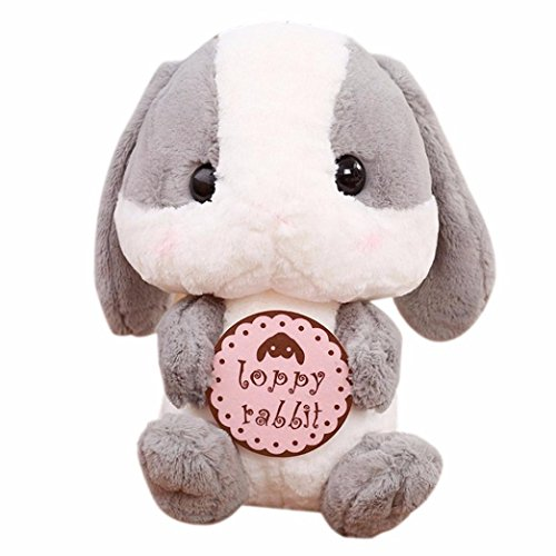 Kimanli Plush Toy Cute Lop Eared Rabbit Stuffed Animal 9 Inches Limited Edition Doll (Gray 3) by Kimanli