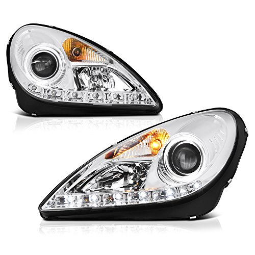 VIPMOTOZ For 2005-2011 Mercedes-Benz R171 SLK-Class LED DRL Headlights, Driver & Passenger Side
