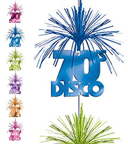 FNA FASHIONS 70s Cascade Column Disco Retro Theme Birthday Dangling Decoration 7 Party -