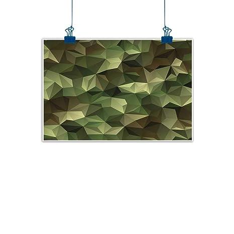 Amazon Com Wall Painting Prints Sage Geometric Fractal Shapes