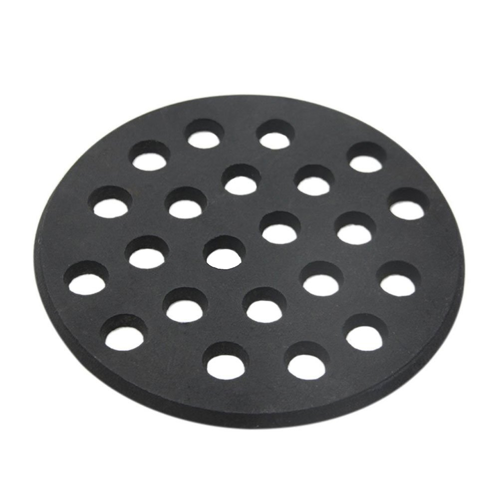 Round cast iron grate,Dracarys bbq high heat charcoal plate fit for big green egg small grate and mini kamado joe grill charcoal replacement parts fire cooking grate green egg accessories-5.5inch SFGC
