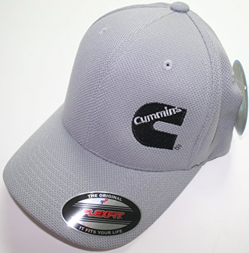 Dodge Cummins Truckers Mesh Summer Cummings Hat Gray Cap Fitted Flex Moisture Wicking