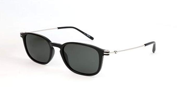 Amazon.com: anteojos de sol Montblanc MB 698 S 01 A Negro ...