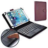 Cooper TOUCHPAD Executive Keyboard case Compatible with Allview City Life, City+, Speed City | 2-in-1 Bluetooth Wireless Keyboard with Touchpad & Leather Folio Cover | Touchpad Mouse (Purple)