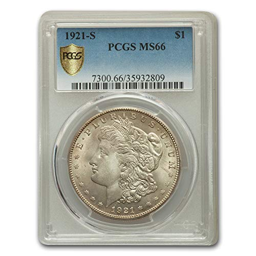 1921 S Morgan Dollar MS-66 PCGS $1 MS-66 PCGS