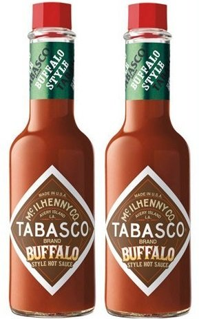 2 Pack: 'New' McIlhenny's Tabasco Brand Buffalo Style Hot Sauce - 5 Oz.