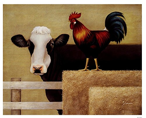 Barnyard Cow by Lowell Herrero Art Print - Barnyard Wall Art Shopping Results
