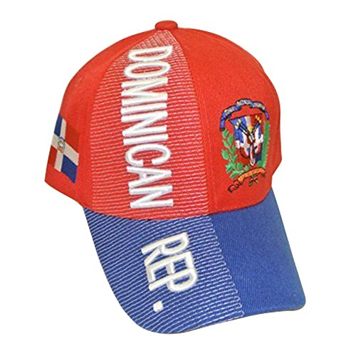 (Baseball Caps Hats with Five 3D Embroideries - Countries of America (1-Pack, Country: Dominican Republic))