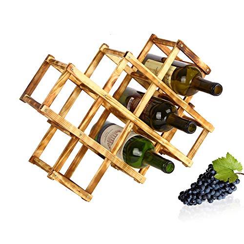 - AckfulRed Wine Wooden Rack 10 Bottle Mount Holder Kitchen Exhibition