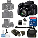 Canon PowerShot SX60 HS Digital Camera + 32GB High Speed SD Card + Camera Case + Card Reader + Cleaning Kit - International Version