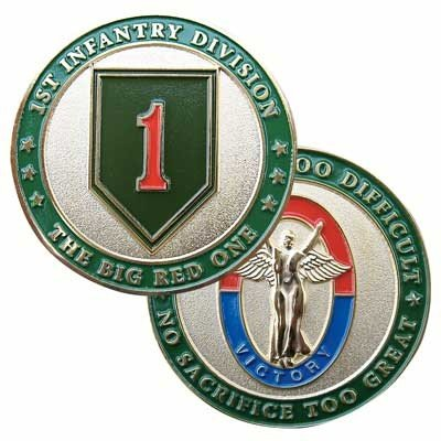 Group Unit Crest (Army 1st Infantry Challenge Coin)