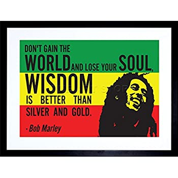 Amazon Bob Marley Positive Day Iphilosophy Music Quote Poster Magnificent Rasta Baby Quotes