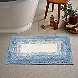 "Adonai Handicraft Style Eco Series 1 Piece Microfiber Soft Bathmat/Doormat - Size 16""x24"", (Mix, 3)"