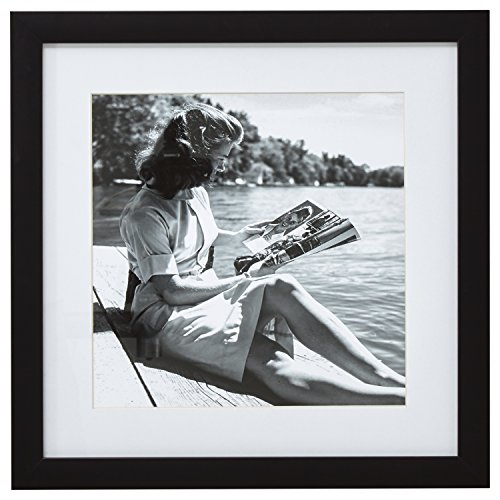 Black and White Reading by the Water Photo Wall Art Décor - 18
