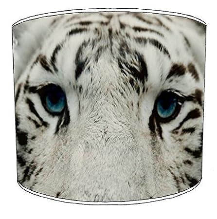 Premier Lampshades 20,3cm Table Tiger Cat Print Abat-Jour 3, 20,3 cm