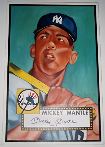 Image of Autographed Mickey Mantle Baseball Cards