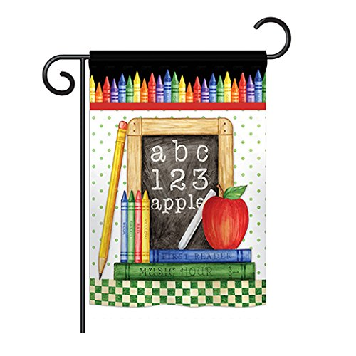 Breeze Decor G165116 School Chalk Board Special Occasion Education Decorative Vertical House Flag, 13