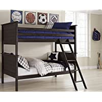 Signature Design by Ashley B521-59R Jaysom Bed Rails/Ladder, Twin, Black