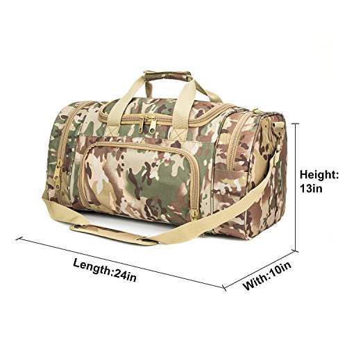 WolfWarriorX Military Tactical Duffle Bag, Large Storage Bag Luggage Duffle for Traveling, Gym, Vacation, Hiking & Trekking (OCP) by WolfWarriorX (Image #6)