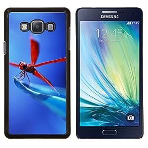 Caucho caso de Shell duro de la cubierta de accesorios de protección BY RAYDREAMMM - Samsung Galaxy A7 A7000 - Libélula roja