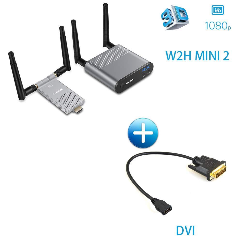 200M HDMI/656ft ワイヤレス HDMI ビデオ トランスミッションシステム WiFi 20~60 ワイヤレス HDMI WiFi トランスミッター エクステンダー 20~60 KHz IR (DVIケーブル付属) B07GDC6SBV, ハナキューチャン:0e8b91b3 --- fancycertifieds.xyz
