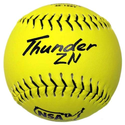 (Dudley NSA Thunder ZN Slow Pitch Softball - 12 pack)