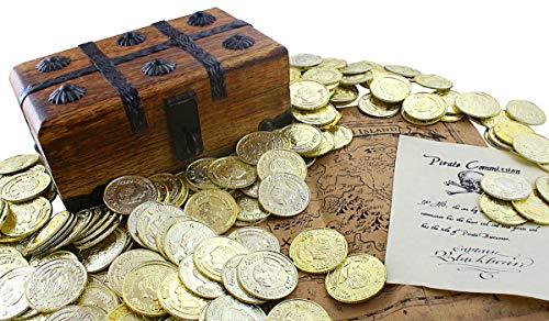 - Well Pack Box Wooden Pirate Treasure Chest 7