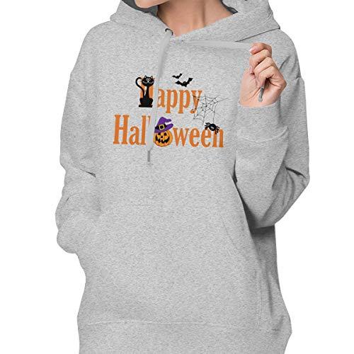 (Designer Station Halloween Women's Casual Hooded Sweatshirt with Pockets)