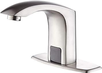 Luxice Sensor Automatische Beruhrungslose Badezimmer Spultischarmatur Heiss Und Kaltmischer Abdeckplatte Inklusive Wasserhahn Geburstetes Nickel Amazon De Baumarkt