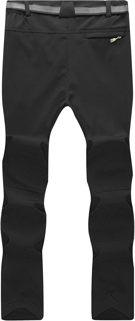DENGBOSN Homme Pantalon Softshell Imperm/éable Pantalon Randonn/ée Thermique /Étanche Coupe-Vent Hiver Automne Pantalon de Montagne Escalade Ski