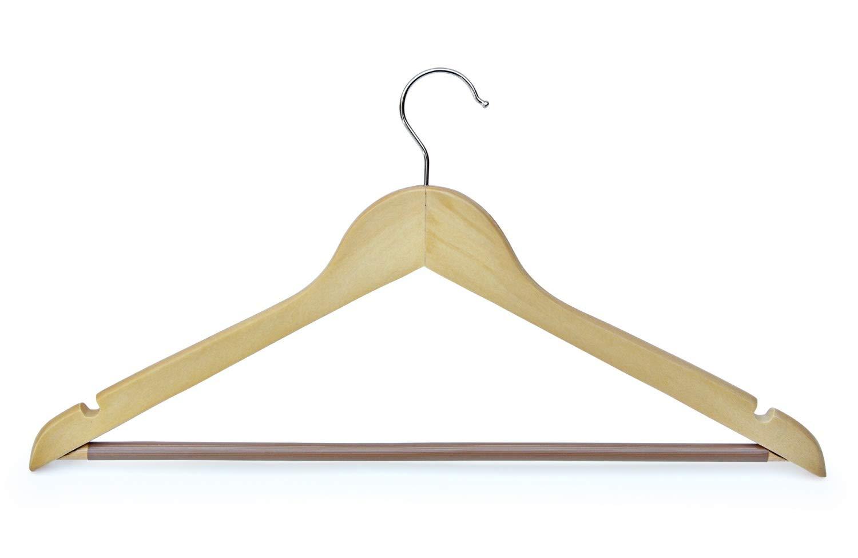 Kleiderbügel aus Holz mit gummiertem Hosensteg - 20 Stück B074N4TCML Kleiderbügel
