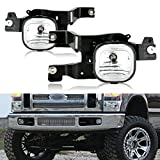 CCIYU Clear Lens OE Replacement Fog Lights Assembly Front Bumper Lamps For 2008-2010 Ford F-250/350/450