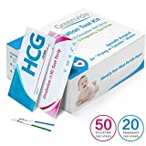 50 Ovulation Test Strips and 20 Pregnancy Test Strips Kit, Combo...