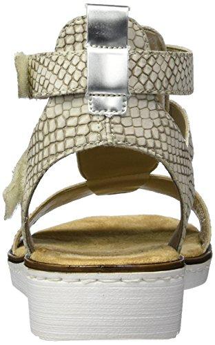 Rieker Ladies 63661 Cinturino Alla Caviglia Beige (beige / Ciottolo / Beige / Argento / 60)