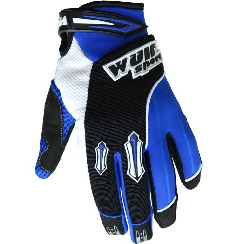 Small 8cm, Blue Wulfsport Motocross MX Stratos Adult Gloves