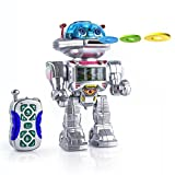 Spire Tech ST-501 Fighting and Talking Intelligent Robot Frisbee Shooting Remote Control Fun Toy with Sound/Lights/Music/Walking/Dancing