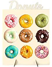 Wooden Donuts Stand, Suprcrne Doughnut Stand Display Holder for Wedding Patry Birthday Decorations, Kitchen, Shop, Dount Hole Baker, Kids Mini Donuts Favors, Donut Parties, Sweets Tables