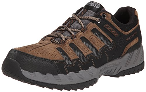 Skechers Sport Men's Outland Thrill Seeker Oxford,Taupe/Black,9 M US