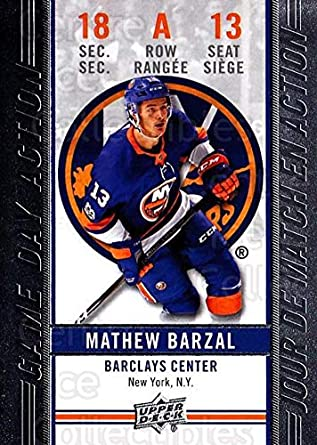 09ace5152 Amazon.com  (CI) Mathew Barzal Hockey Card 2018-19 Tim Hortons Game ...
